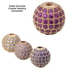 <b>Cubic Zirconia</b> Cooper Lavender Purple clear Disco Ball