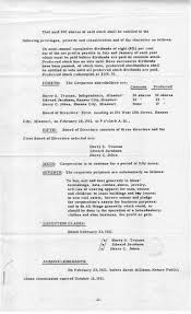 truman library resume of articles of incorporation 23 1 2 3
