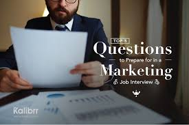 job interview tips career advicecareer advice top 5 questions to prepare for in a marketing job interview