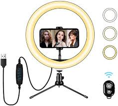 Syfinee <b>Ring Light</b> with Stand Phone Holder <b>16cm LED Ring Light</b> ...