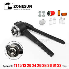 zonesun manual crimper tool for perfume spray 13mm 15mm 18mm 20mm