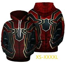 Hallowen Costume <b>Avengers</b> Infinity War Spiderman Sweater <b>3d</b> ...