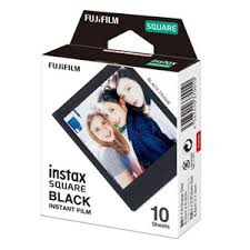 CAMERAS & ACCESSORIES - <b>Fujifilm Instax Square</b> Film <b>Black</b> 10 ...