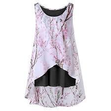 OYSOHE <b>Women Summer</b> Beach Flowers Vest Top Sleeveless ...