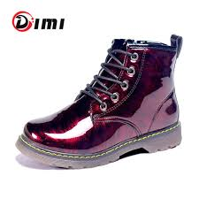 DIMI <b>2021 New</b> Kids Boots Shoes Fashion Mirror Bright <b>PU Leather</b> ...