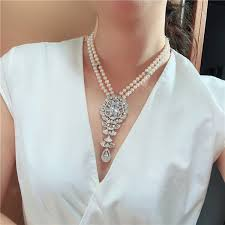 2019 <b>Fashionable</b> 2strand <b>Natural Freshwater Pearl</b> 6 7mm Zircon ...