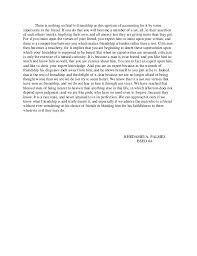on friendship  an essay