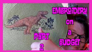 machine <b>embroidery</b> on a Budget: <b>Dinosaur applique Embroidery</b> ...
