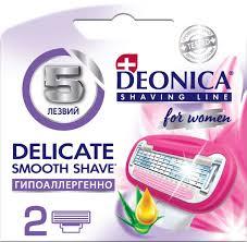 <b>DEONICA For</b> Women Сменные <b>кассеты</b> для бритья 5 лезвий 2 ...