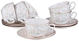 <b>Сервиз чайный lefard фабьен</b> 6 персон, 15 предметов, фарфор ...