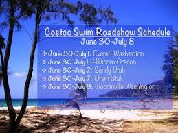 costco roadshow diviine modestee costco roadshow swim schedule