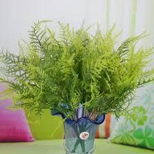 plastic green 7 stems artificial asparagus fern bush plants home cafe office decoration alex nld artificial plants for office decor