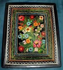 Vintage Mexican Olinala Guerrero Lacquered <b>Hand Painted</b> WOOD ...