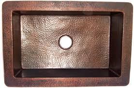 hammered copper kitchen sink: farmhouse hammered copper kitchen sink iv