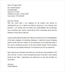cover letter format examples     download free documents in word    cover letter format for supervisor