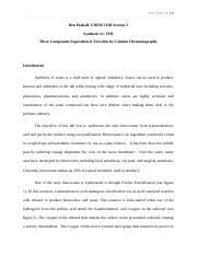 Synthesis of Benzocaine   Fischer Esterification of p aminobenzoic     Course Hero