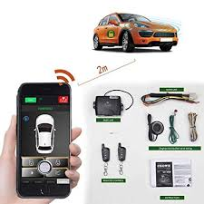 <b>Remote Car</b> Starter 2-Way Automatic <b>Car</b> Alarm System <b>Phone</b> APP ...