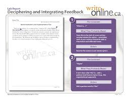 write online lab report writing guide revising your work lab report sample deciphering and integrating feedback