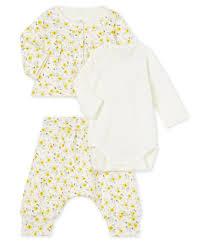 <b>Baby Girls</b>' Wool/<b>Cotton</b> Clothing - 3-piece set | Petit Bateau
