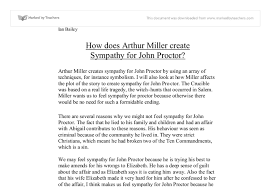 the crucible essay on john proctor  odol my ip mehow does arthur miller create sympathy for john proctor gcse document image preview
