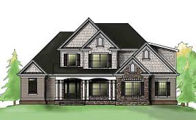 Three Story Southern Style House Plan   front porchsouthern house plan   front porch