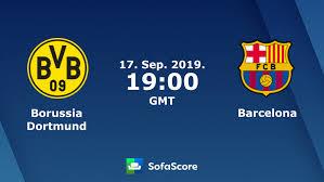 Borussia Dortmund Barcelona live score, video stream and H2H ...