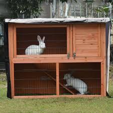 Oxford Cloth <b>Rabbit Hutch Cover</b> Double <b>Layer Rabbit Cage</b> Dust ...