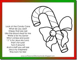 Small Picture Candy Cane Poem and coloring page Read the cute poem about Jesus