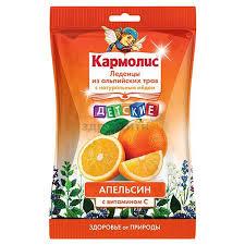 <b>Кармолис леденцы детские</b> мед-вит с Апельсин 75г купить по ...