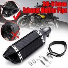 <b>Carbon Fiber</b> 38-51mm Motorcycle Aluminum Dual-outlet Exhaust ...