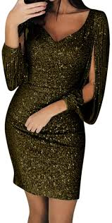 WOCACHI Dresses for <b>Womens</b>, <b>Women Sexy</b> Solid <b>Sequined</b> ...