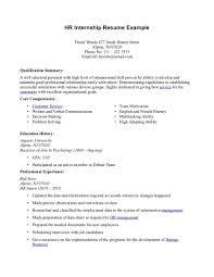 human resource sample resume  seangarrette coresume for internship format resume cover letter writing tutorial aipucsdedu hr internship resume example