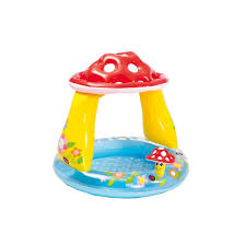 Intex 57114NP <b>Inflatable Mushroom</b> Baby Pool - Multicolor: Buy ...