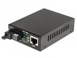 Media converter 10/100/1000 Mbps RJ-45/SC, SM <b>1550nm</b>, 10km ...