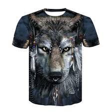 Devin Du <b>2019</b> Hot <b>Newest Harajuku Wolf</b> 3D Print Cool T shirt Men ...