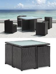 outdoor furniture for your condo origami dining set from zuo modern balcony condo patio furniture