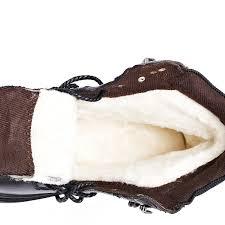 Natural Wool <b>Men Winter Shoes</b> Warmest Genuine Leather ...