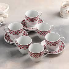 """Сервиз чайный """"Агата"""", 12 предметов: чашка 200 мл, <b>блюдце 12 см</b>"""
