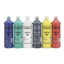 Classmates Ready <b>Mixed Paint</b> in Assorted - Pack of 6 - 600ml Bottle