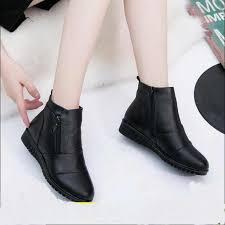 Akexiya <b>Hot Sale</b> Shoe Knight boots <b>Genuine Leather</b> Ankle Shoes ...