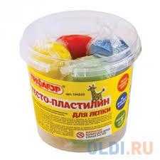 <b>Тесто для лепки ПИФАГОР</b> Пластилин 4 цвета — купить по ...