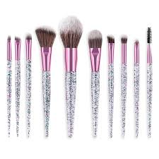 <b>Sparkle</b> Sass <b>10 Piece Makeup</b> Brush Set