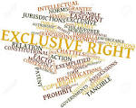 exclusive right