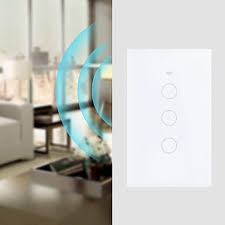 3 Gangs Wall Touch Panel Intelligent Wifi <b>Remote</b> Control Switch ...