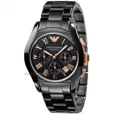 men s emporio armani ceramic chronograph watch ar1410 watch ar1410 image 0