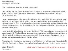 Job Application Letter Accountant