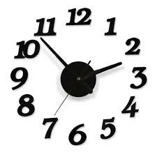 100% <b>Handpainted</b> Peacock <b>Large Decorative Wall</b> Clocks Stickers ...