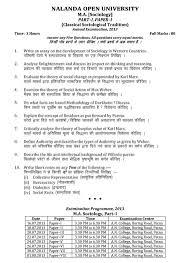 term paper sociology nalanda open university ma in sociology part i methodology of nalanda open university ma in sociology part i methodology of