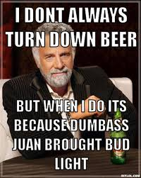 DIYLOL - I DONT ALWAYS TURN DOWN BEER BUT WHEN I DO ITS BECAUSE ... via Relatably.com
