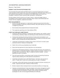 resume  moresume cosales associate job description resume